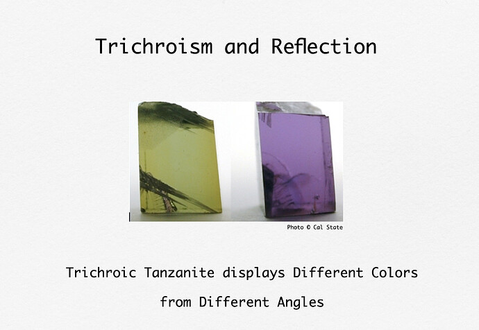 Tri-Chroic Tanzanite