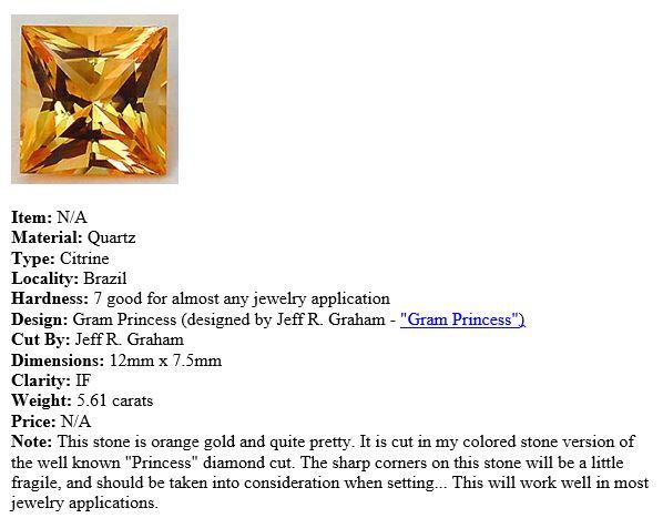 Jeff Graham Citrine Description
