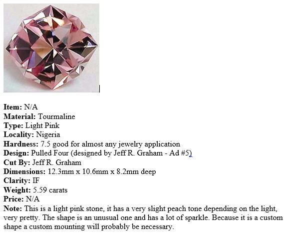 Jeff Graham Tourmaline Description